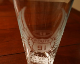 "Route 91 ""Survivor"" Etched Pint Glass"