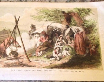 Art print about gipsyvery colorful and telling a story year 1858