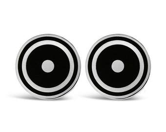 Sterling Silver Sun Symbol Cufflinks