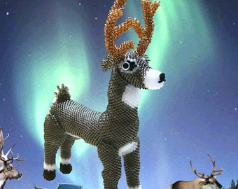 """Pattern / Tutorial Beaded Ornament -  Master class for creating """"Deer"""" Bead"""