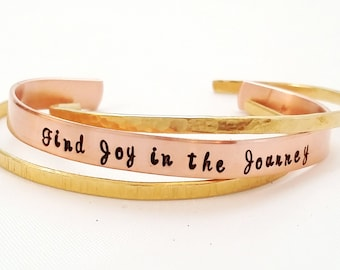 Custom Cuff Bracelet - Stacked Cuffs - Personalized Bracelets - Wife Gift - Copper Bracelet - Gift for her