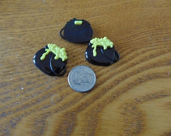 Witch's Kettle Button Embellishment