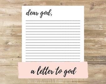 Letter to God: Bullet Journal Printable