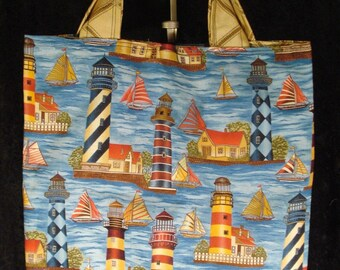 Handcrafted Medium Size Tote / Beach Bag