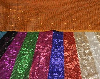 Sequin Fabric sewed On Polyester mesh, All over 5mm sequins, Sparkly and shiny