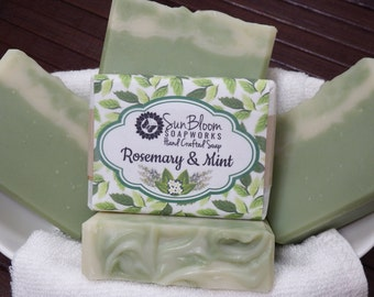 Rosemary & Mint Soap // Essential Oil Soap