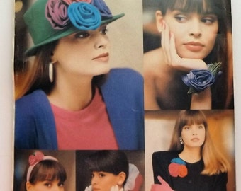Butterick 6654 . 20 Accessories in Bloom.  Flowers and bows for hair and clothing