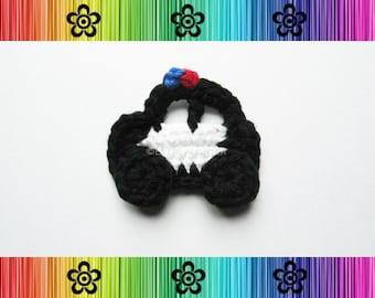 PATTERN-Crochet Police Car Applique-Detailed Photos