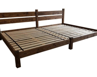 Platform Bed, Double Bed, Co-Sleeping, Family Bed, Shared Bed, Smith Family Bed, Bed With Headboard