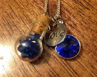 Steven Universe Ruby and Sapphire Couple's Necklace Set