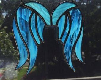 Angel Wings stained glass sun catcher