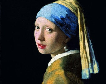 Johannes Vermeer : Girl with a Pearl Earring (1665) Canvas Gallery Wrapped Giclee Wall Art Print (D650)