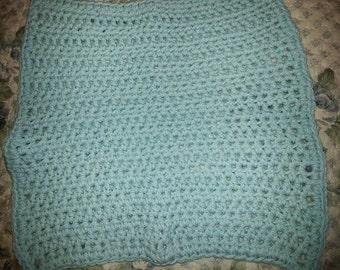 Light Blue Cotton Washcloth