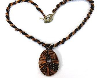 Beaded Kumihimo Woven Necklace
