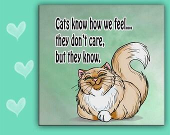 CAT TILE, Cat Trivet, Sarcastic Cat, Cat Spoon Rest, Funny Cat Gift