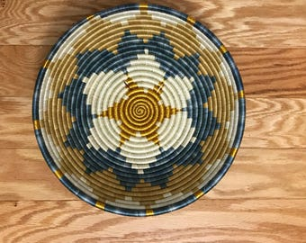 Beautiful Gold and Robbins Egg Blue African Baskets ***Free Shipping