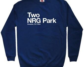 Houston Football Stadium Sweatshirt - Men S M L XL 2x 3x - Crewneck, Houston Texas Shirt, Fan, Sports, Gift - 4 Colors