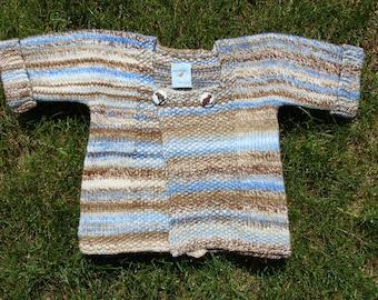 sandy beach handspun handknit baby sweater