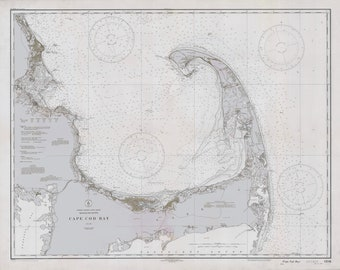 Cape Cod Map 1933 (Grey)
