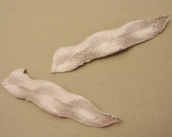 cast sterling silver fern leaves for silversmiths UL025-2