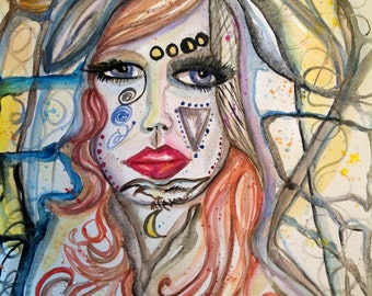 NADA, Goddess art, Angel of Karma, Muse, Divine Feminine, Witch Energy Healing, Shamanic, Journey, Reiki, Altar, Divinat ion, Spiritual, Zen