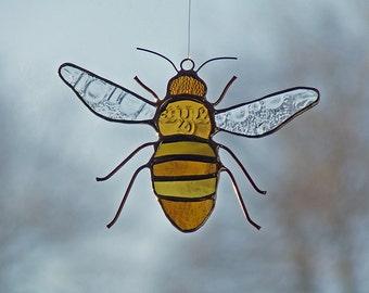 Reclaimed Glass Honeybee, Unique Wedding Gift