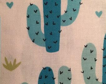 Blue Cactus Over The Collar Bandana