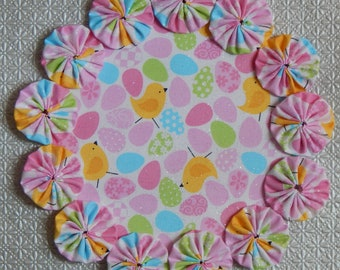 Easter Chick and Eggs Glitter Doily