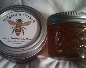 Sore Throat Soother - Herb Infused Honey