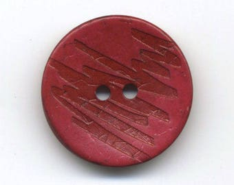 Hot pink Zebra lacquered coconut button