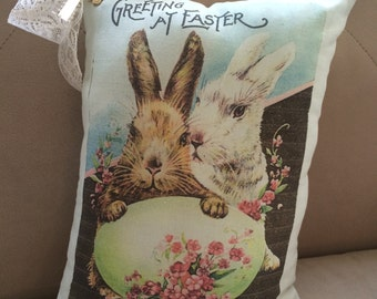 Greetings at Easter Pillow