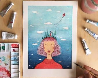 The Daydreamer - Art Print