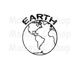 Earth One Color Instant Digital Download File Cuttable