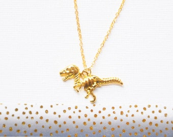 T rex necklace, Dinosaur necklace, Raptor charm, Jurassic park world, Best friend jewelry, Velociraptor, Friendship gift, History teacher