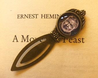 Ernest Hemingway Bookmark Gift For Reader, The Old Man and The Sea, Hemingway Gift, Book Gift, Vintage Author Bookmark, English Teacher Gift