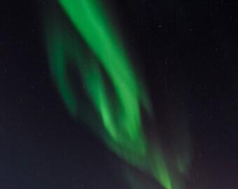 Aurora Borealis photo print, night sky, midnight, fine art photograph, northern lights, aurora photograph, landscape photograph nature photo