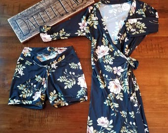 XS Floral Wrap Dress with matching bloomers
