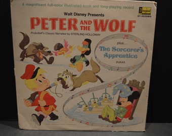 1969 Walt Disney Presents Peter and the Wolf Record-Disneyland Record#3926