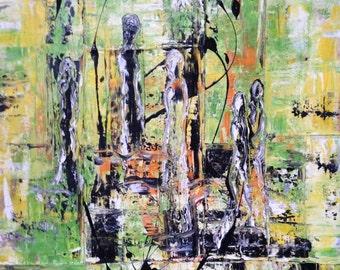 La Esperanza-The hope, abstract, acrylic on canvas, 70 x 100 cm