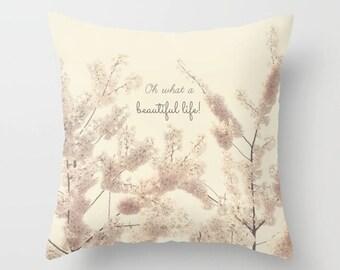 Home Dekor, dekorative, Wurfkissen, Beautiful, Frühling, blüht, Blüten, Äste, Naturfotografie von RDelean