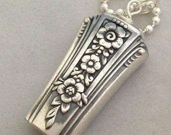 Knife Bell Pendant Fortune 1939 Silverware Jewelry Vintage Silverplate Knife