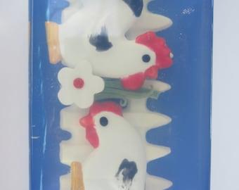 Farm Rooster & Chicken Glycerin Soap