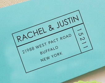 CUSTOM ADDRESS STAMP, personalized pre inked address stamp, pre inked custom address stamp, return address stamp with proof - C6-47