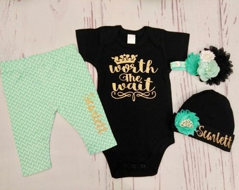 baby girl coming home outfit, baby girl clothes, newborn baby girl take home outfit, newborn girl outfit, newborn girl coming home outfit