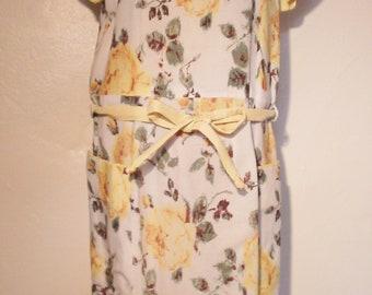 1950s yellow rose dress