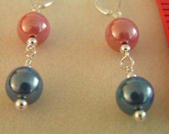 Pink & Blue Dangles
