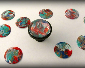 Cabinet Knobs, Unique Knobs, Unique Knobs, Colorful Knobs, Colorful Pulls