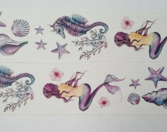 Design Washi tape Mermaid shell seahorse