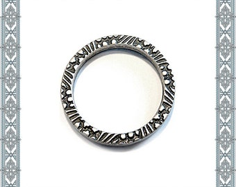 6 pieces of Byzantine O-ring old silver O-rings antique silver PLATED