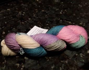 Hand dyed pastel Superwash Sock Yarn